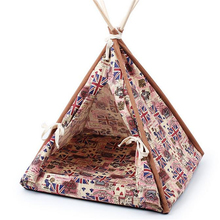 Dogs and Cats Out Mat Four Seasons Real Wood Bracket Canvas Folding Pet Tent  FMYK054