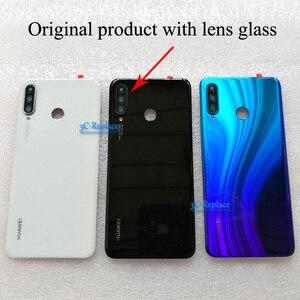 Image 3 - Оригинальный 6,1 дюймовый для Huawei P30 Lite / Nova 4E MAR LX1 L01 L21 L22 стеклянная задняя крышка батарейного отсека Корпус батарейного отсека задняя крышка