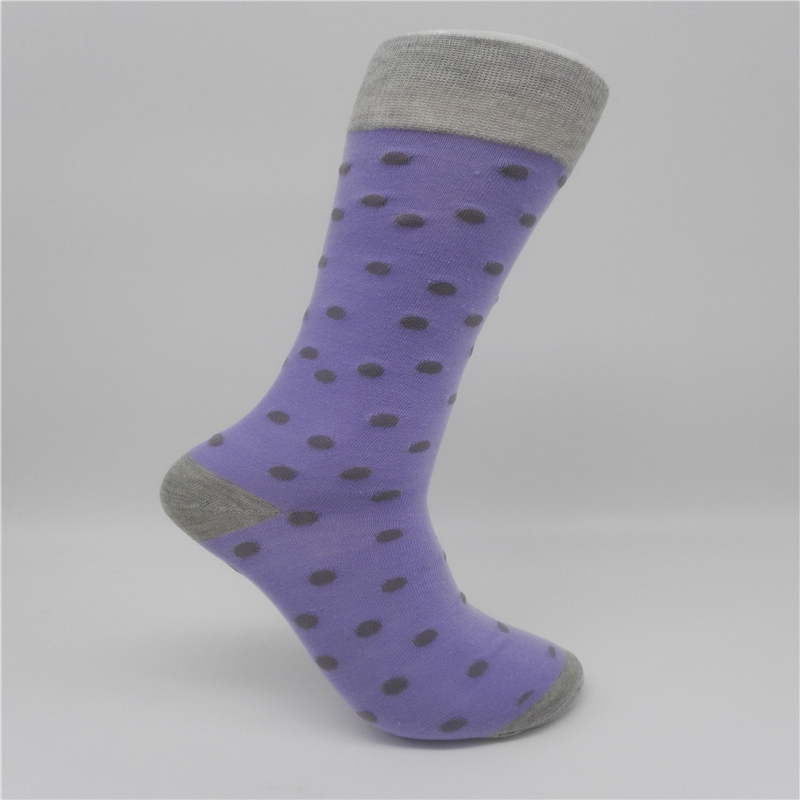 CH0018 New Style Colorful Dot Mens Combed Cotton Socks Brand Man Dress Knit Socks Wedding Gifts Free shipping US size(8-12)