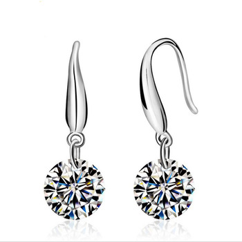 2020 Fashion jewelry 925 silver Earrings Female Crystal from Swarovskis New Woman name earrings Twins micro set 2