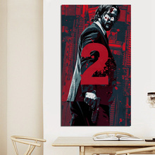 John Wick Chapter 2 Keanu Reeves Motivational Wall Art Canvas Posters Prints Painting Oil Pictures For Bedroom Home Decor