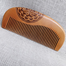Pocket Peach Wood Comb Anti-static  Hair Care Wooden Combs Natural Curved Sandalwood Head Massage Salon Barber Styling Tool