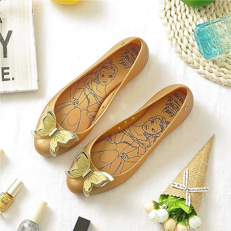 Melissa 3D Bow Tie Woman Jelly Sandals 2019 Summer Parent child Shoes Sandals Melissa Women Jelly Shoes Soft 22 5cm 24 5cm in Low Heels from Shoes