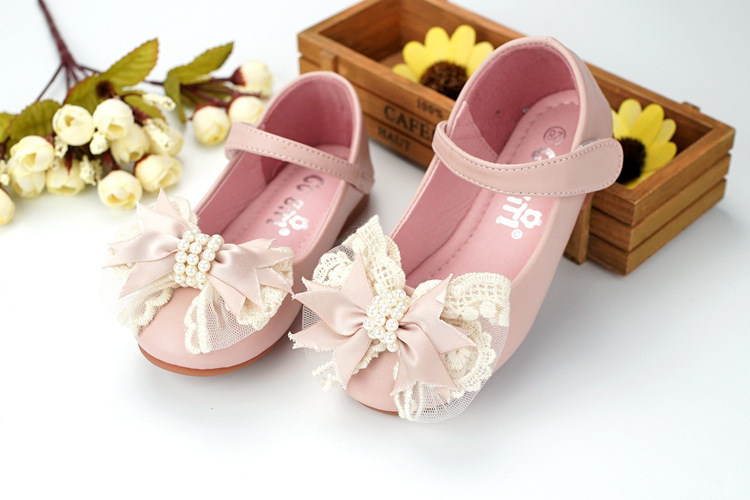 Eleven Story Girls lace pearls bow shoes, NEW kids 2018 SPRING/FALL CHILD boutique leather wear, 6 M-6 yrs retail, 1AG804S-02R