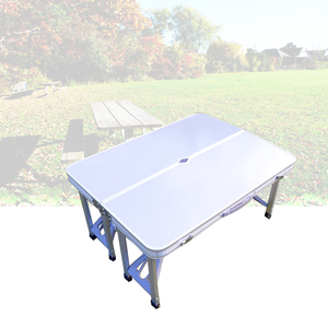 Image 4 - Portable Folding Table And Chair Outdoor Picnic Foldable Aluminum Alloy Desk Chairs