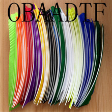 50 шт., разноцветные стрелы из индейки, 12 цветов, 18 25 см
