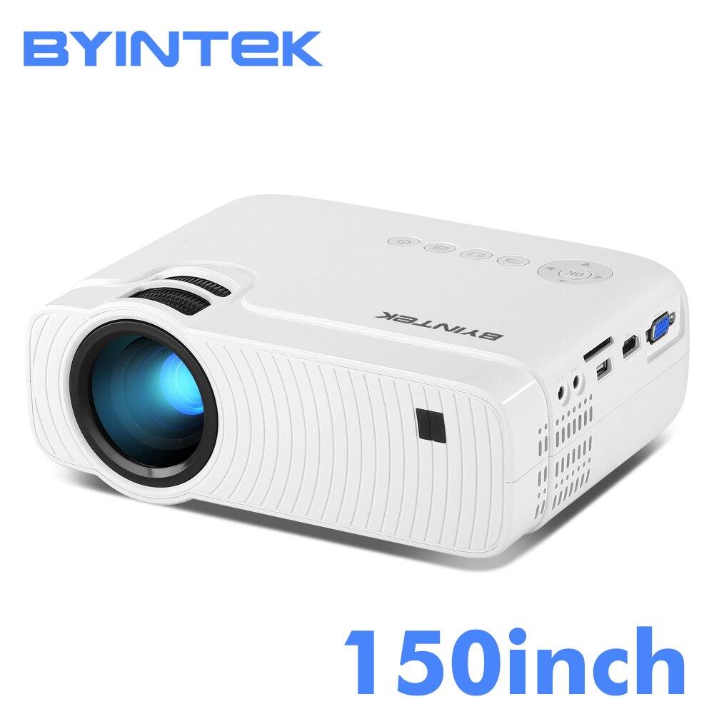 BYINTEK CIELO K2 da 150 pollici HA CONDOTTO il Mini Micro Portatile Video Proiettore Del HD con Altoparlante HDMI USB Per Il Gioco di Film 1080 P Cinema Home Theater