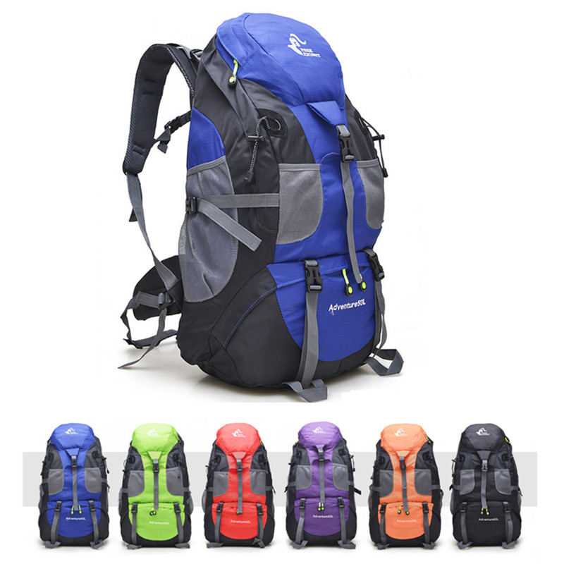 50L Outdoor Hiking Bag 6 Colors Waterproof Tourist Travel Mountain Backpack,Trekking Camping Climbing Sport Bags