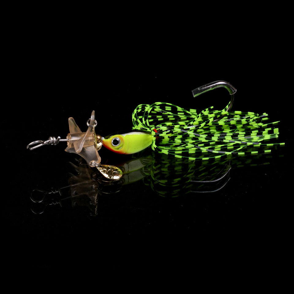 WALK FISH 1PCS Metal Hard Fishing Jig Head Wobbler Fishing Lures 18g Spinner Baits With Propeller Fishing Tackle Pesca Isca 1pc spinner bait xxxxxxg metal lure hard fishing lures spinner lure spinnerbait pike swivel fish tackle wobbler submerged fluff