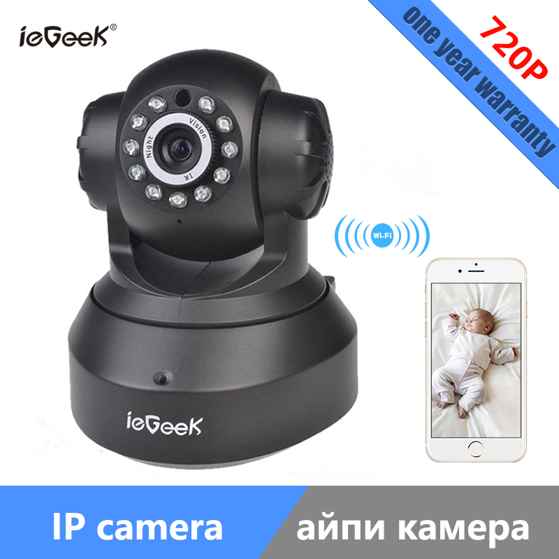ieGeek Wireless IP Camera 720P Wifi Pan / Tilt Surveillance P2P Baby Monitor Support SD card 128G Remote View Webcam wanscam hw0021 p2p home wifi surveillance camera wireless pan tilt support tf card recording up to 128g