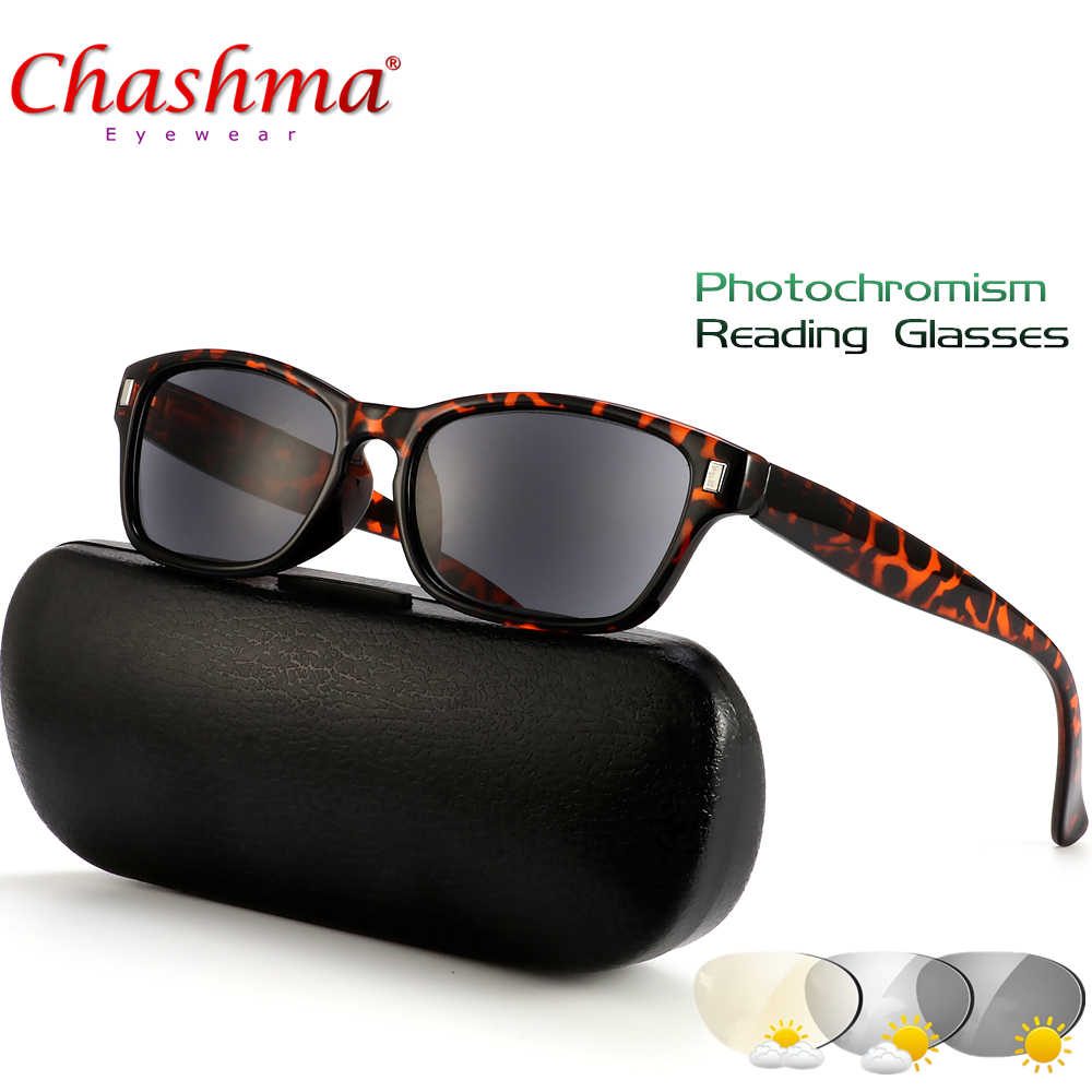 c111bb15fc NEW Photochromic Reading Glasses Women Presbyopia Eyeglasses Sunglasses  discoloration with diopters 1.0 1.25 1.50 1.75 2.0