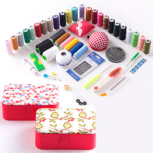 Image 2 - Wedding Fabric Sewing Box Home Wedding Dowry Sewing Kit 33 Stitching Needle Tape Scissor Multifunction Threads