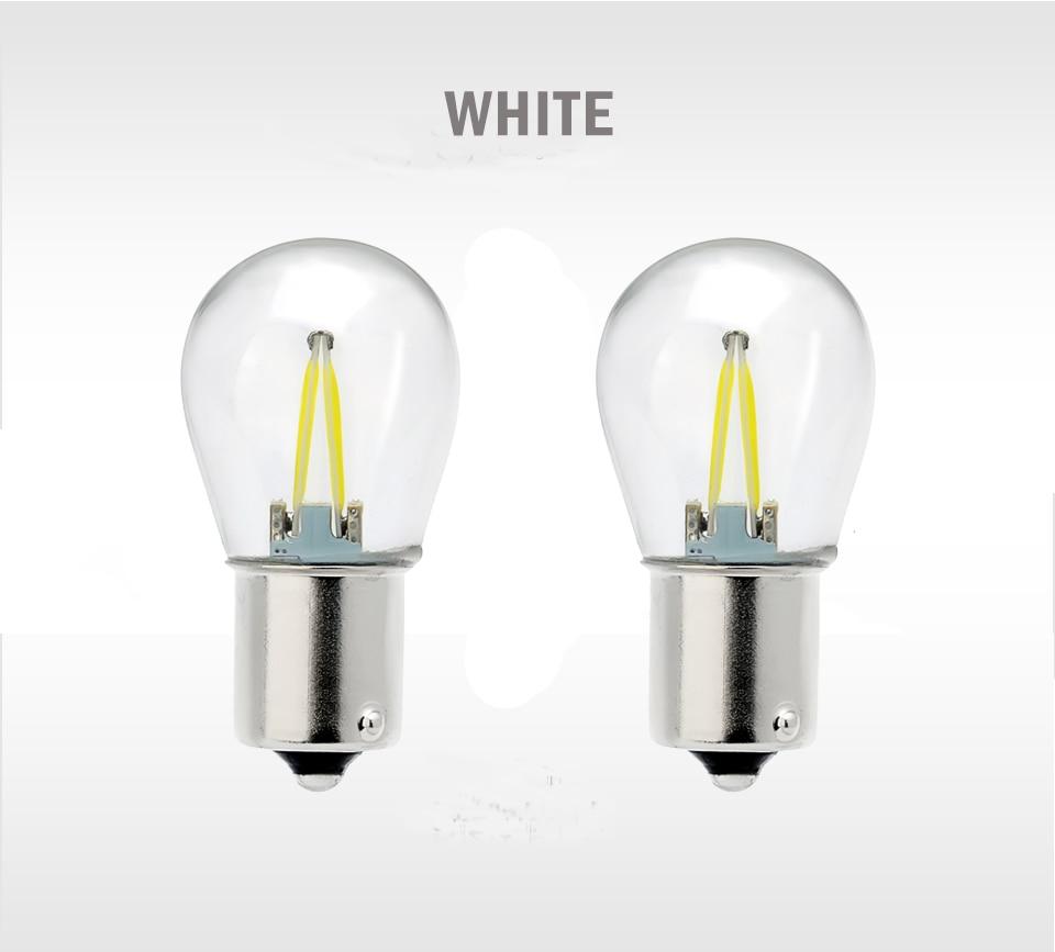 HTB14wi3aIrrK1RjSspaq6AREXXaF 1X P21W Ba15s 1156 Led Filament Chip Car Light Bulb S25 Auto Vehicle Reverse Turning Instructions Lamp White 12v 24v 6000K