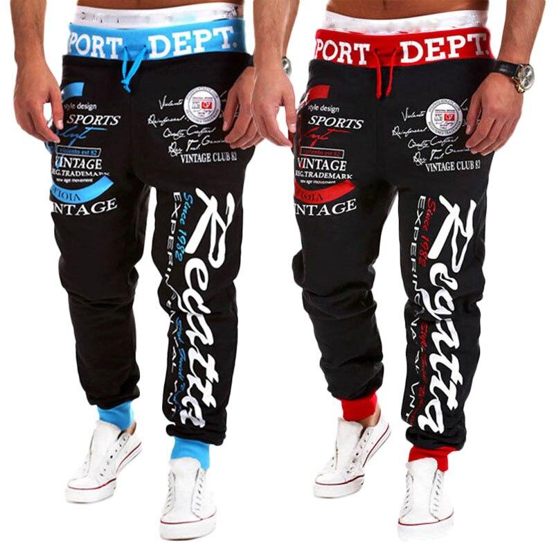 Pantalones Lrgos Deportivos De Hombre Moda Hip Hop Chándal Deporte Entrenamiento