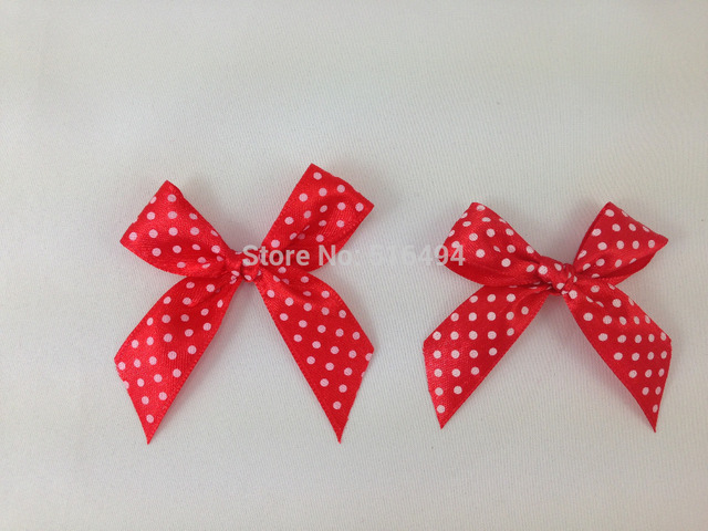Dots printed satin ribbon bow tie baby girl dress accessories gift dots printed satin ribbon bow tie baby girl dress accessories gift candy box decoration gift ribbons negle Image collections