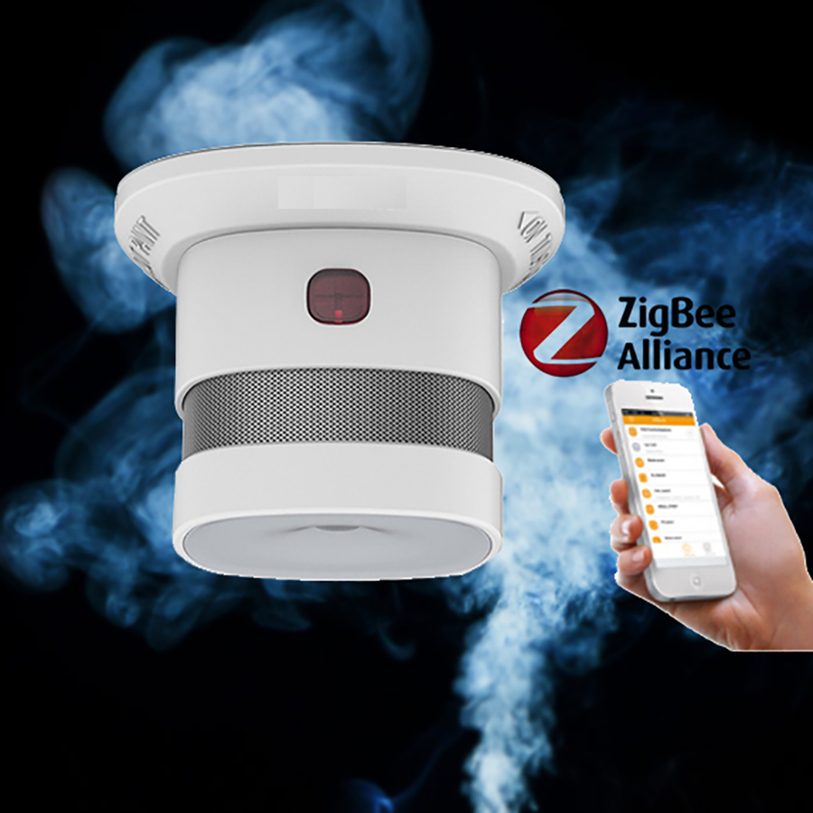 Zigbee Hub APP Control 85db Alarm Volume Fire Smoke Alarm Sensor
