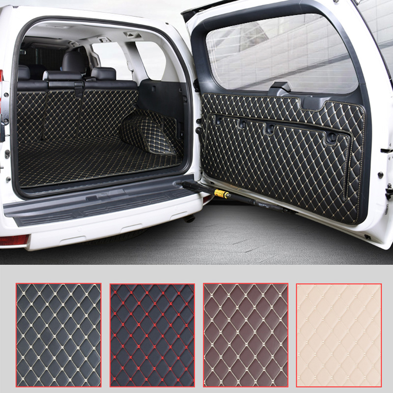 Car Rear Trunk Floor Mat Durable Boot Carpets For Toyota Land Cruiser Prado 150 2010 2011 2012 2014 2014 2015 2016 2017 2018 trunk cargo cover security sheild for toyota land cruiser prado fj150 2010 2011 2012 2013 2014 2015