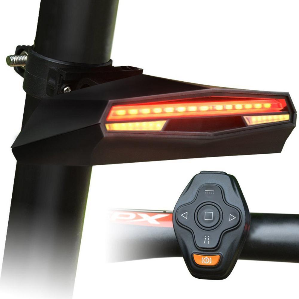 Acessórios inteligentes mountain bike luzes traseiras de controle remoto laser turn signal suprimentos segurança da bicicleta x5 lanterna traseira luzes advertência