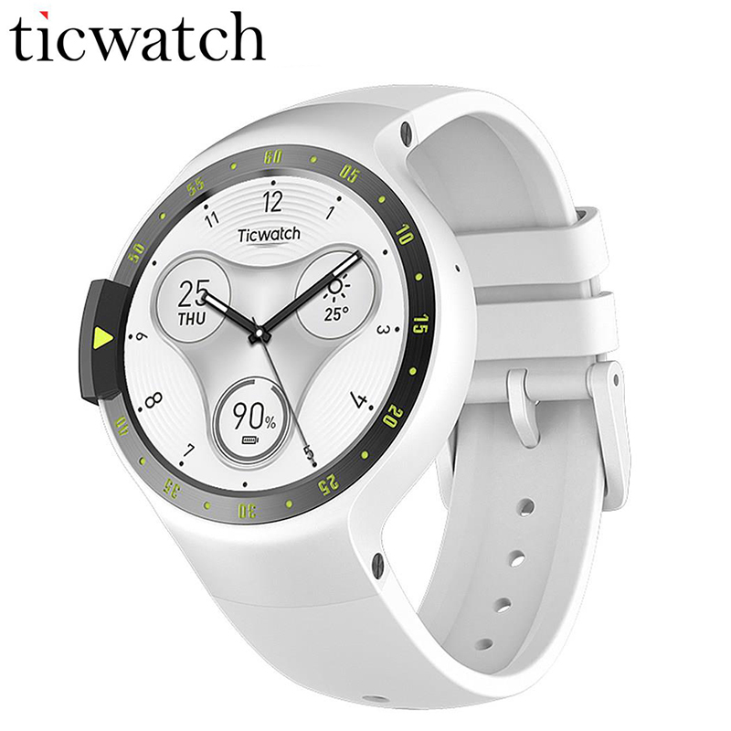Ticwatch S Glacier Smart Watch Phone Bluetooth 4 1 WIFI GPS Heart Rate Watch Phone Android
