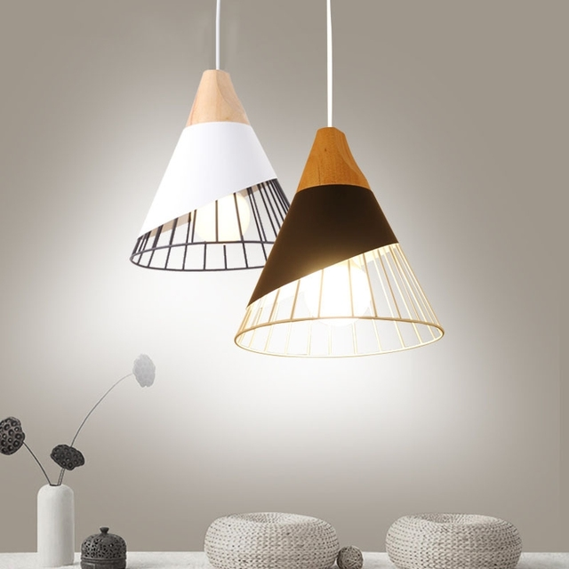Loft Pendelleuchte Vintage Holz Industrielle Beleuchtung Für Küche  Kronleuchter Esszimmer Retro Anhänger Lampen Para Sala De