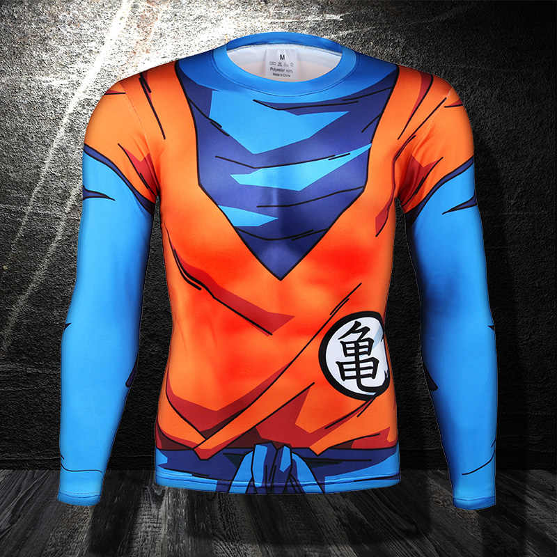 2019 plus récent mignon enfant Goku nouveau 3D Long t-shirt femmes hommes t-shirts occasionnels Anime Dragon Ball Z Super Saiyan t-shirt Harajuku t-shirts