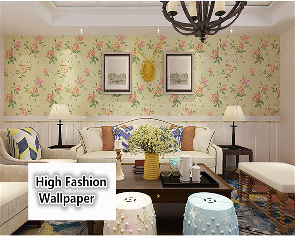 beibehang American country garden big flower papel de parede 3d wallpaper living room bedroom aisle TV background wall paper beibehang papel de parede 3d dimensional relief korean garden flower bedroom wallpaper shop for living room backdrop wall paper page 2