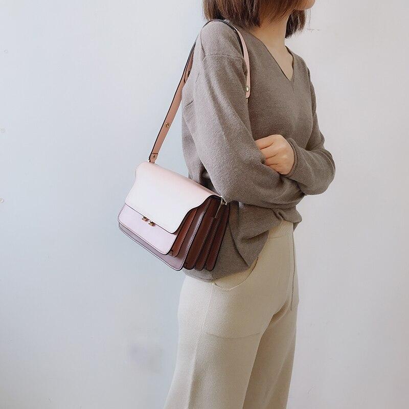 새로운 브랜드 정품 암소 가죽 여성 핸드백 패션 체인 숄더 가방 여성 럭셔리 디자이너 crossbody 가방 레이디 가방 428-에서탑 핸드백부터 수화물 & 가방 의  그룹 1