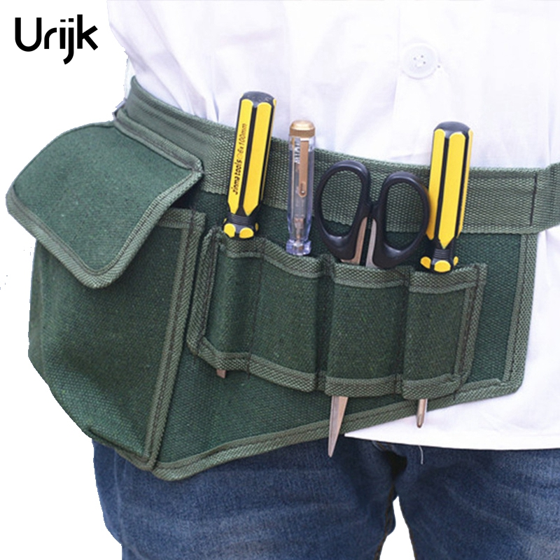 Urijk Hardware Electrical Tool Bags Adjustable Waist Belt Tools Pockets Construction Packs Thicker Canvas Bag Without Tool