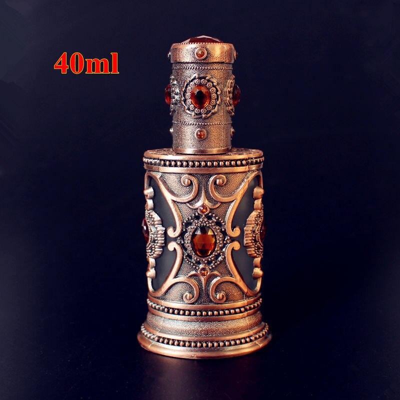 Sambette 1 Stuck 40 Ml Vintage Metall Parfum Flasche Leere Glas