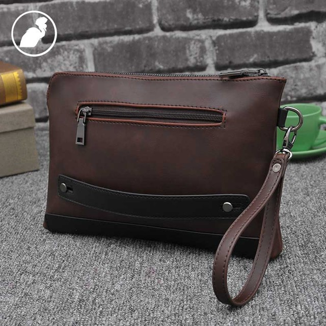 ETONWEAG Famous Brands Cow Leather Wallet Men Clutch Bags Brown Vintage Travel Organizer Wallets Business Style Phone Coin Purse 2
