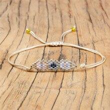 Shinus 5Pcs/lot Miyuki Women Bracelets Ornament Geometric Beaded Bracelet Delica Beads Woven Jewelry Gift