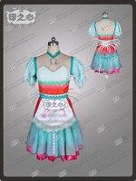 Сирены свисток Алиса косплей костюм униформа наряд платье + шея + фартук + корсет на заказ