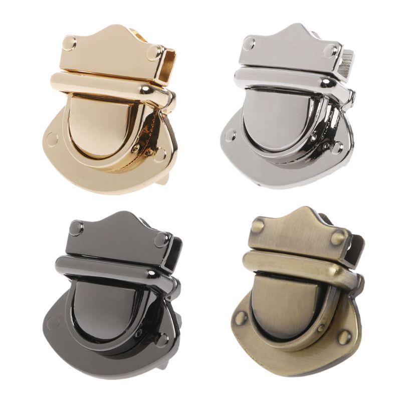 New 1 Pc Metal Clasp Turn Lock Twist Locks For DIY Craft Replacement Handbag Shoulder Bag Purse Hardware Accessories 4 Colors