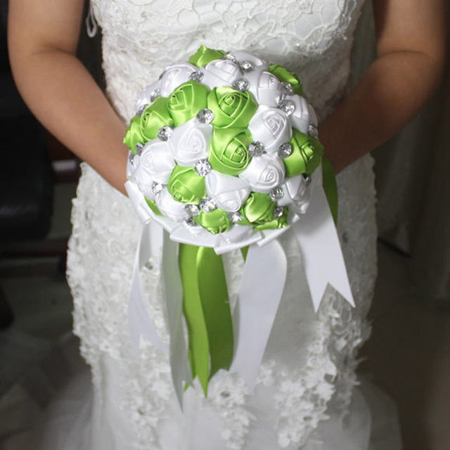 Hand Made Top Quality Beads Brooch Silk Flower Bride Bridal Wedding ...