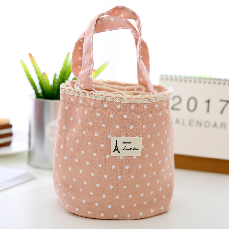 New Fashion Portable Insulated Canvas lunch Bag Thermal Food Picnic Lunch Bags for Women kids Men Cooler Lunch Box Bag Tote