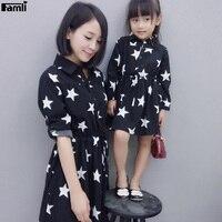Famli 1 pz Vestiti Da Madre Figlia Moda Autunno Familiari Corrispondenza Mi Mamma Abiti Vestito Vestiti Set Moeder En Dochter Kleding