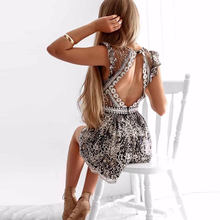 9fec38a602 2018 Summer rompers women Shine Backless Sexy Lace sequin Bodysuit  transparent ruffles jumpsuit Beach Party playsuits body femme