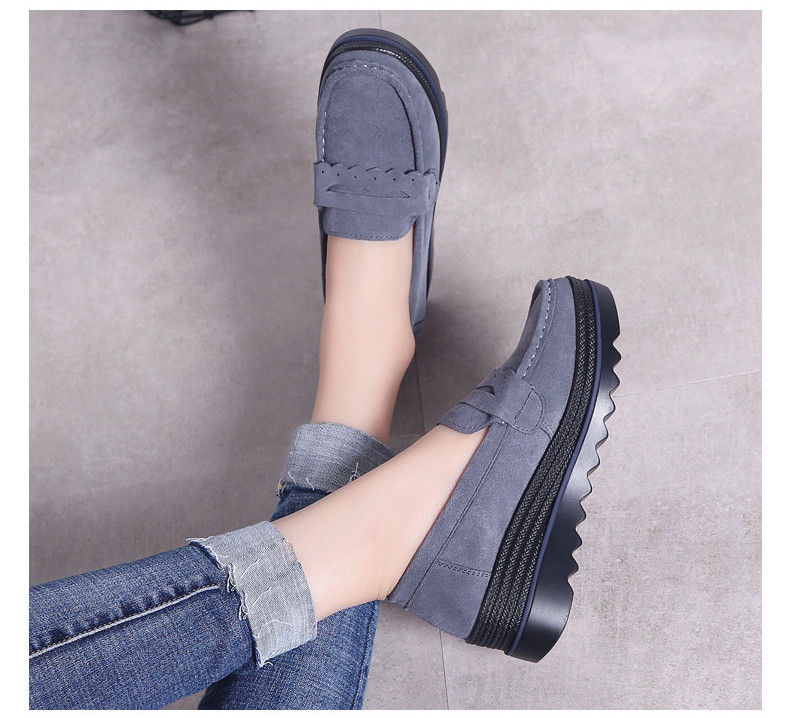 HX 8775-Spring Autumn Genuine Leather Women Shoes-15