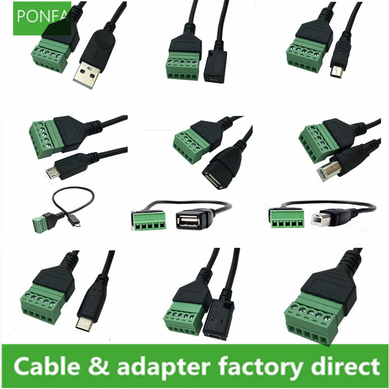 Connector and Terminal /USB 2.0 A Female to Micro B 5 Pin Female Charging Data Extension Adapter Cable