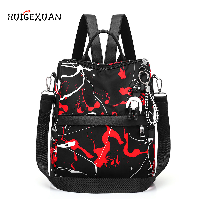 Backpacks Bags Schoolbag Oxford Graffiti Teenagers Female Girls Large Women's High-Quality