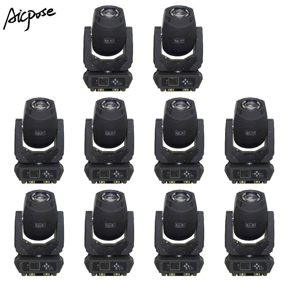 10Pcs/lots 200W Beam Light 3 in 1 Led Moving Head Light 6 Gobos 7 Colors Prism Electronic Linear Focus Wedding Stage lighting