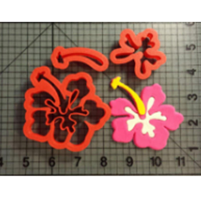 Flower Series Fondant Cookie Cutter Cupcake Top Custom Made 3D Printed Kitchen Accessories Cookie Cutter Set Cookie Molds