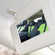 Автомобильное косметическое зеркало для макияжа из нержавеющей стали, солнцезащитный козырек, солнцезащитное зеркало, автомобильное украшение, зеркало, принадлежности для автомобиля