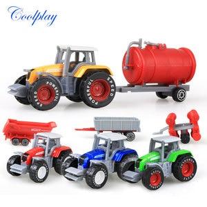 Die-cast Farm Vehicles Mini Car Model Engineering Car Model Tractor Engineering Car Tractor Toys Model for Kids Xmas Gift(China)