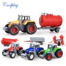 Odlewane pojazdy rolnicze Mini Model samochodu inżynieria Model samochodu ciągnik inżynieria ciągnik samochodowy zabawki Model na prezent świąteczny dla dzieci
