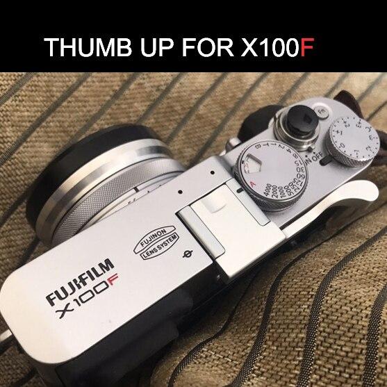 Silver Color Aluminum Thumb UP Metal Thumb Rest Thumb Grip For Fuji X100F FUJIFILM X100F Hot Shoe Cover