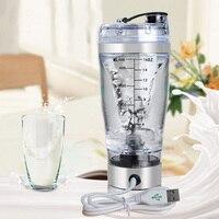 450ML Protable Mini Juicer Handheld Mixing Manual Milk Coffee Protein Shaker Blender Plastic Stainless Food Mixer