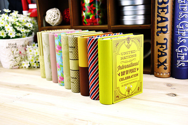 Free shipping HOT Cute Metal Storage Box Trinket Gift Tin Case Book Shape Decor Container organizer