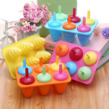 New 6 Cell Summer Pop Popsicle Mold Ice Cream Maker Frozen Pudding Lolly DIY Icing Mould 20 x 13.5 x 7.5cm