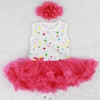 Yeni Varış Bebek Bebek Elbisesi Renkli Puan Pembe Iplik Kabarcık Etek suit 22-23 inç Kız Reborn Bebekler Giysileri setleri